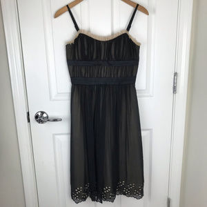 BCBG Paris Black Silk Cocktail Dress Size 2